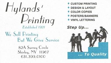 Hylands' Printing