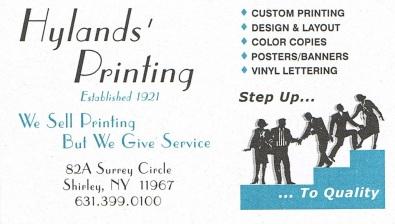 Hyland's Printing